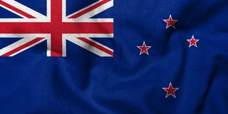3D Flag of New Zealand Stock Photos