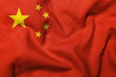 3D Flag of People's Republic of China Royalty Free Stock Images