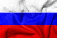 3D Flag of Russia Stock Image