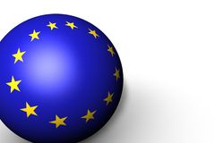 3d Flag Sphere of European Union Stock Images