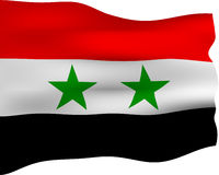 3D Flag of Syria Stock Image