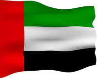 3D Flag of United Arab Emirates Stock Photography