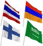 3d flags мир Стоковая Фотография RF