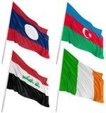 3d flags мир Бесплатная Иллюстрация