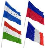 3d flags världen Fotografering för Bildbyråer