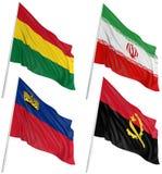 3d flags världen Arkivfoto