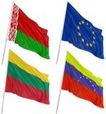 3d flags världen Arkivfoton