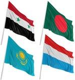 3d flags världen Royaltyfria Bilder