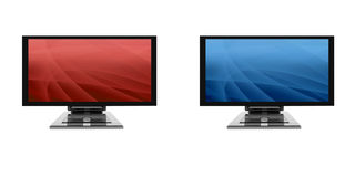3d flat monitor Royalty Free Stock Image