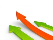 3d flechas, concepto del crecimiento stock de ilustración