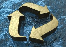 3D Floating Recycle Symbol Royalty Free Stock Photography