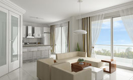 3d floor plan. Flat home Stock Image
