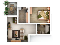 3d floor plan Stock Image