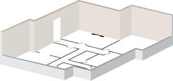 3d floorplan Royalty Free Stock Photography