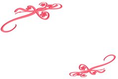 3d Floral Border. With vines and flowers over white background Royalty Free Stock Photography