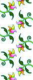 3D Floral Pattern on White stock images