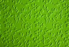 3D floral wallpaper. 3D green floral wallpaper (seamless pattern royalty free stock images
