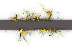 3d floresce o molde da bandeira Ilustração Stock