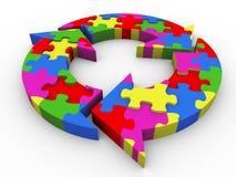 3d flow diagram puzzle Stock Images