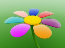3d flower Stock Photo