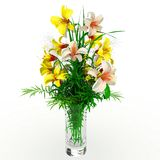 3d flower arrangement on vase Stock Images