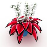 3d flower arrangement on vase Stock Image
