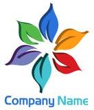 3d Flower logo Stock Image