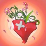 3D Flower love Stock Photos