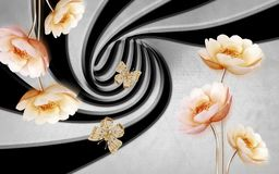Free 3D Flower Wallpaper Colorful Background Stock Image - 164192651
