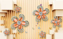 Free 3D Flower Wallpaper Colorful Background Stock Image - 164193291