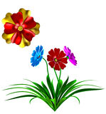 3D flowers Royalty Free Stock Photos