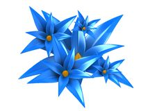 3d flowers Royalty Free Stock Image