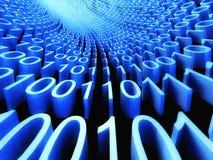 3d flusso binario, flusso di informazione Immagine Stock Libera da Diritti
