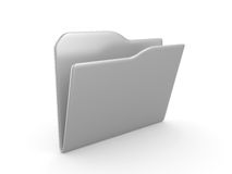 3D a folder Royalty Free Stock Photo