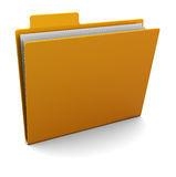 3d folder Royalty Free Stock Image