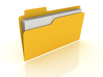 3D Folder Royalty Free Stock Images