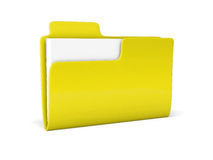 3D folder icon Royalty Free Stock Photo