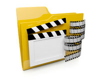 3d Folder Icon With The Video Royalty Free Stock Images