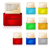 3D folder web icons Stock Image