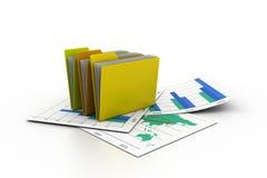 3d folders Royalty Free Stock Image