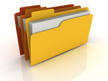 3D Folders Royalty Free Stock Images