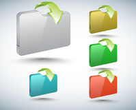 3d folders collection Stock Photo