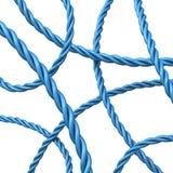 3d fondo abstracto - cuerdas azules Fotos de archivo libres de regalías