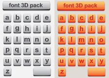 3D Font Stock Photography