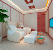 3D foot massage room Stock Images