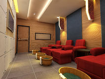 3d foot reflexology room Royalty Free Stock Photography