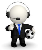3D Football commentator Stock Images
