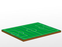 3D football field Stock Image