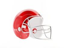 3D football helmet Stock Photo