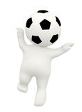 3D football man Stock Photography